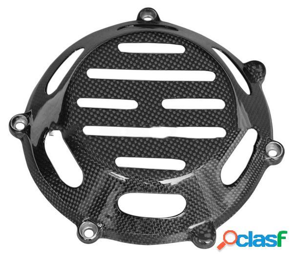 Cubierta ventilada del embrague en seco con inserciones de aluminio para motos ducati de motor 4v air cooled.