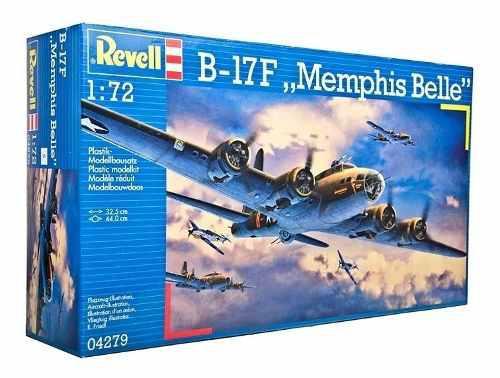Avion revell escala 1/72 b-17f memphis belle 4279 modelismo