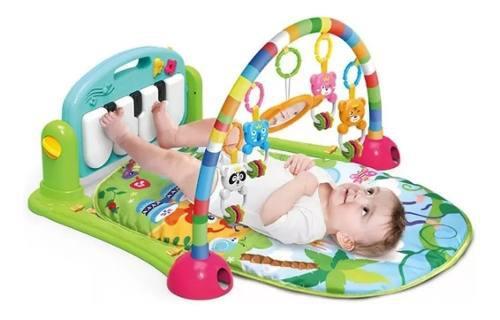 Gimnasio bebé piano musical tapete acojinado arco móviles