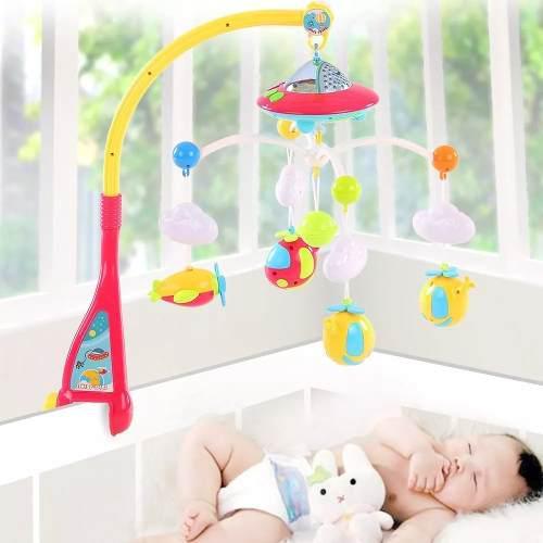 Juguete carrusel móvil musical con luz para cuna de bebe