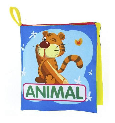 Libro de tela para bebés suave juguete educativo en inglés