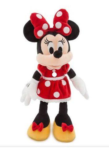 Minnie de peluche vestido rojo mide 40 cm de alto