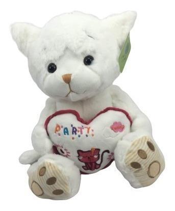 Peluche gato blanco 40cm regalo precio mayoreo