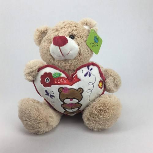 Peluche oso color beige 22cm regalo precio mayoreo