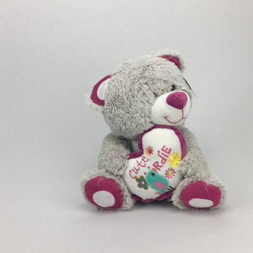Peluche oso color gris 27cm regalo precio mayoreo