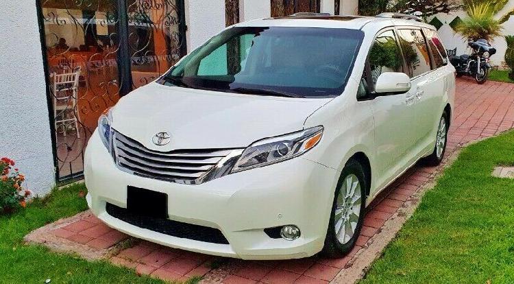 Toyota sienna limited 2015. automatica, piel, v6, 3.5l,