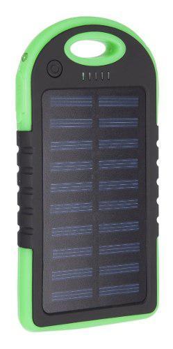 Bateria recargable cargador solar power bank 5000mah resiste