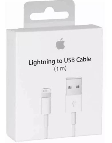 Cable cargador lightning 1m iphone 10 pieza mayoreo