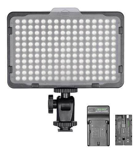 Lampara neewer 176 leds video foto + pila + cargador