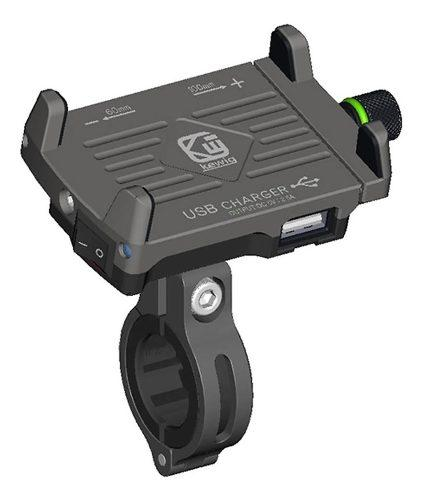 Soporte Smartphone Celular Motocicleta Con Cargador Usb 2.5a