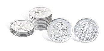Arras boda peseta original plata