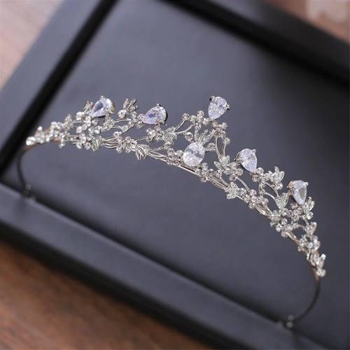 Moda cristal rhinestone tiara corona boda novia headpiece ac