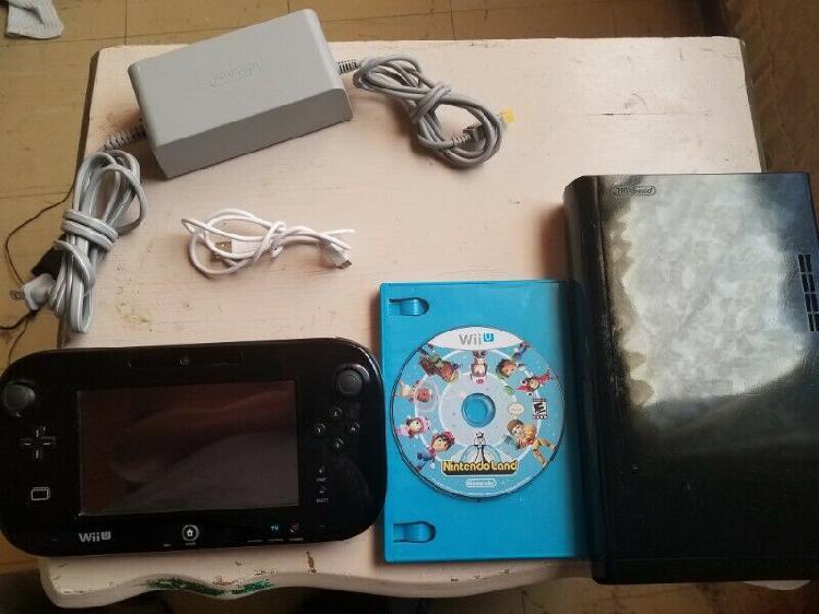 Wiiu negro 32gb con 2 juegos en memoria y 1 juego fisico