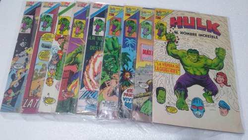 Comics marvel hulk el hombre increible 80´s novaro avestruz