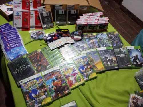 Kit juegos xbox, xbox 360, ps2 disquetes, cd, limpiador cd