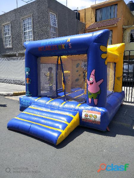 Renta de inflable chico de bon esponja brincolin