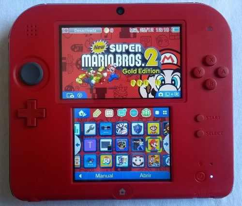 Nintendo 2ds crimson red 2