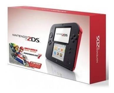 Nintendo 2ds rojo como nuevo en caja con 2 juegos completo