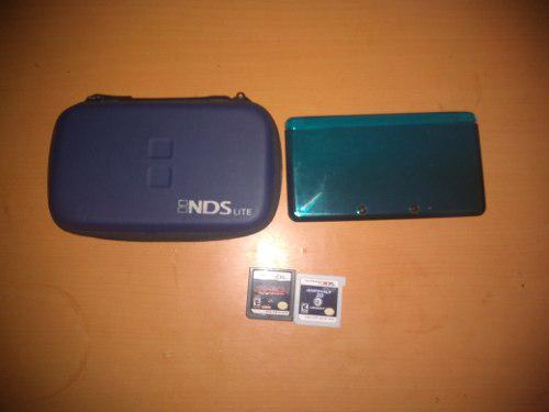 Nintendo 3ds old. memoria con juegos y 2 cartuchos.