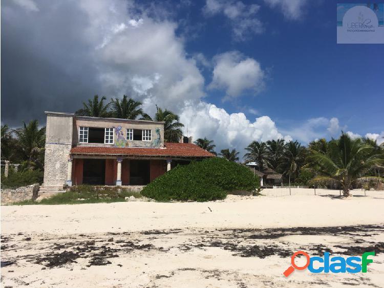 Venta de terreno vista al mar playa secreto cancun