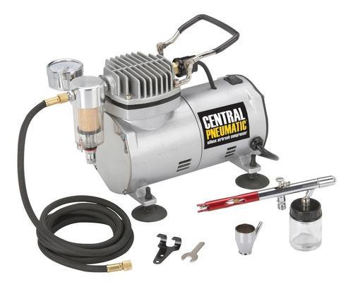 Aerografo electrico acero 1/5 hp 58 psi compresor manguera