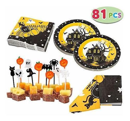 Juego de vajilla spooktacular creations halloween party que