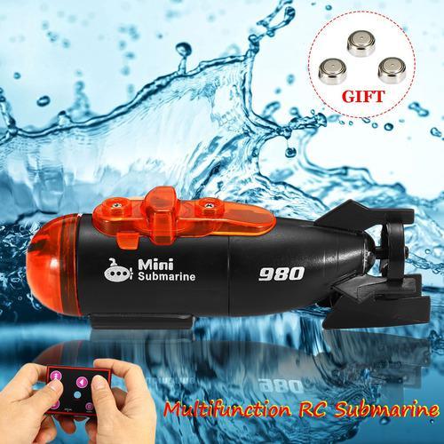 Mini rc submarino barco micro radio control remoto barco w/