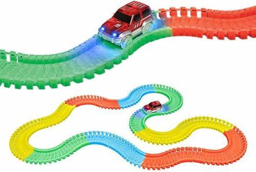Pista flexible auto magnific tracks luces led 165 piezas
