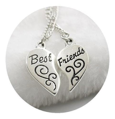 Collares mejores amigos bff corazon compartir amor amistad