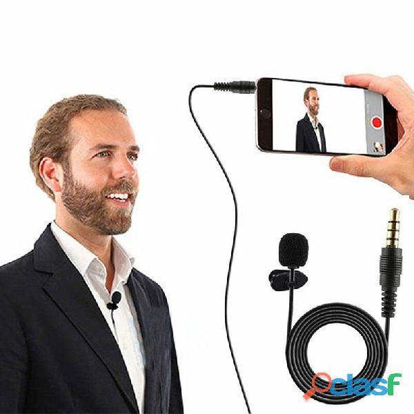 Micrófono lavalier clip para solapa jack 3.5mm