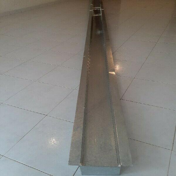 Canaleta ó canalón de lamina galvanizada