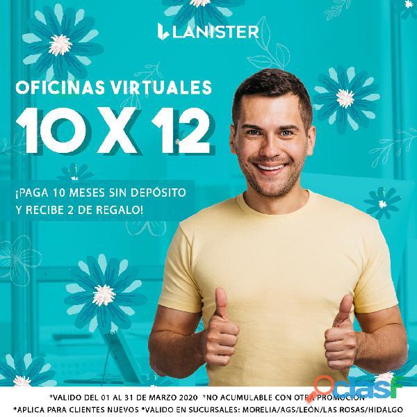 OFICINAS VIRTUALES CON LA MEJOR UBICACIÓN DESDE $750.00 2