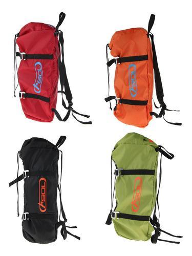 Bolsa de cuerda y hoja de arborista para escalada, mochila
