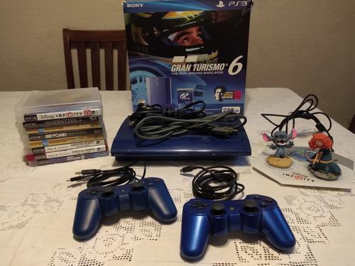 Consola ps3 slim azul de 250 gb de almacenamiento