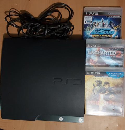 Playstation 3 slim 160gb +3 juegos