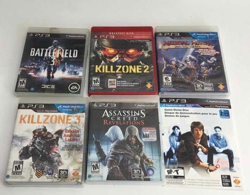 Ps3 juegos play station 3 combo seminuevo 5 juegos