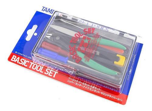 Basic tool set herramientas básicas tamiya 74016 modelismo