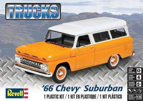 Camioneta Chevy Suburban 1966 Escala 1/25 Revell 14409