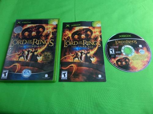 Juego Original The Lord Of The Rings The Third Age Xbox