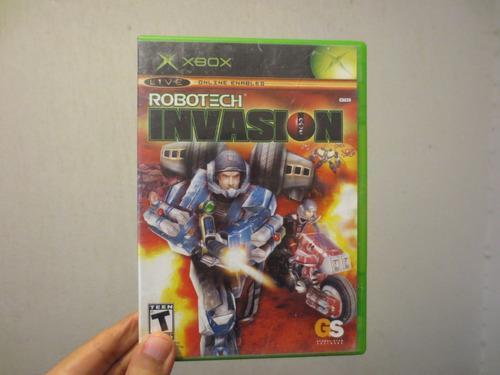 Juego robotech invasion xbox clásico usado funcionando