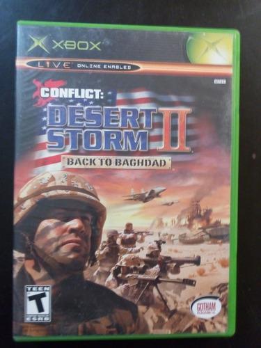 Video juego xbox clasico desert storm 2 funcionando