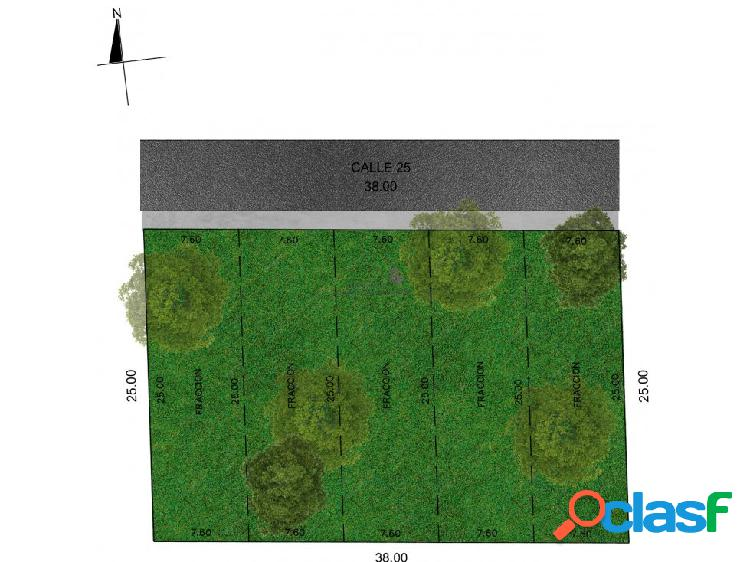 Terrenos en venta en cholul mérida de 190m2.