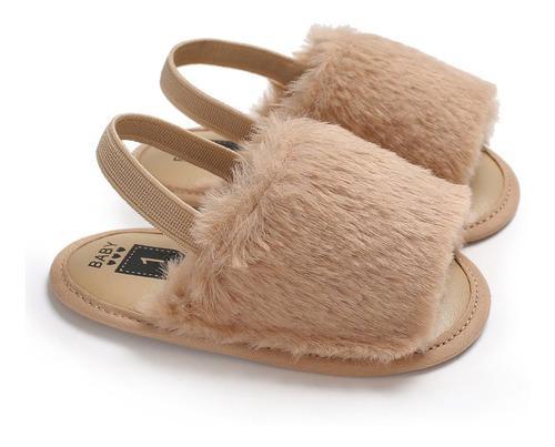 C493 sandalias de bebé niñas suave suela zapatos de felpa