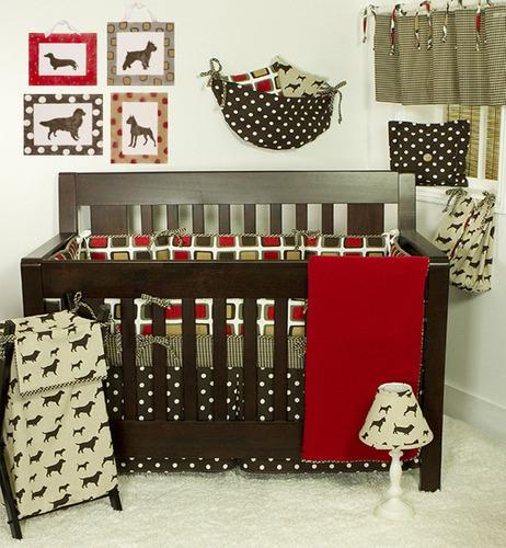 Cotton tale designs houndstooth juego de cama de cuna de vi