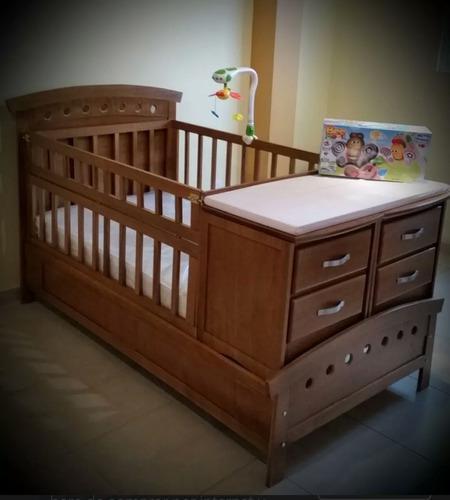 Cuna cama con accesorios nueva en madera de pino