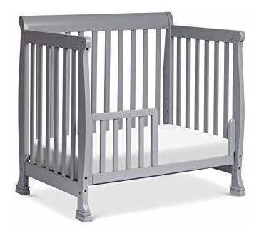 Cuna cama de madera para bebes y niños pequeños gris