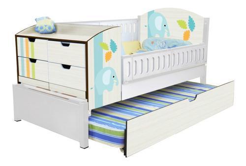 Cuna cama duplex canguro corral bebe con colchon de cuna