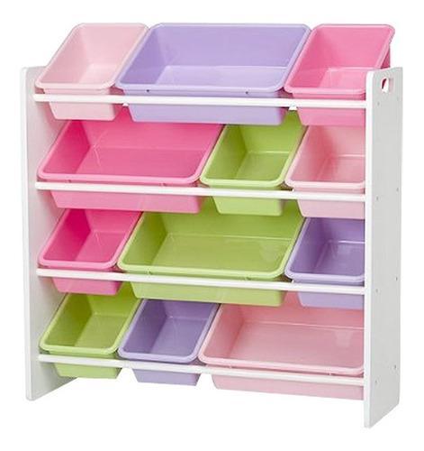Juguetero organizador blanco juguetes niñas niños kids