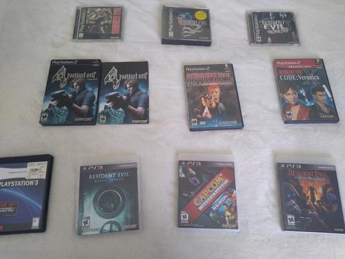 Lote juegos resident evil ps1, ps2,ps3