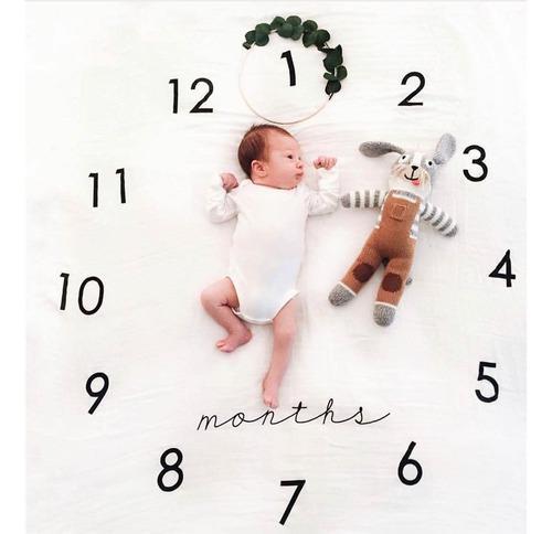 Manta sabana fotografia mensual para bebes